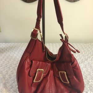 Cole haan red leather bag